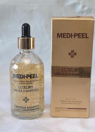 Ампульная сыворотка medi-peel luxury 24k gold ampoule, 100 мл