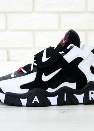 Nike air barrage black white мужские кроссовки найк, высокие х...