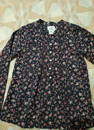 Блузочка в цветочный принт на 12-13 лет