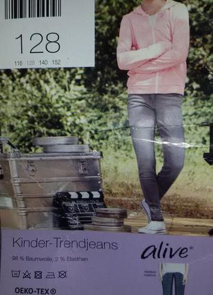 Стильные джинсы для вашей модницы от alive, рост 128