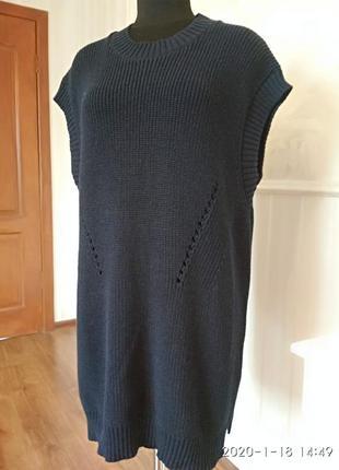 Туника жилет платье большого размера 56-58-60.