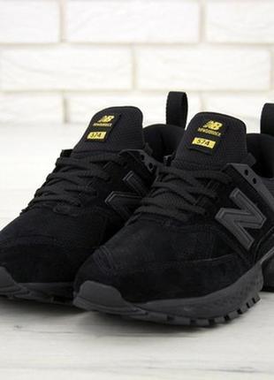 Мужские кроссовки new balance 574 sport v2 black, черные нью б...
