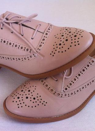 Мега стильные пудровые туфли броги 👞  stradivarius  размер 37 ...