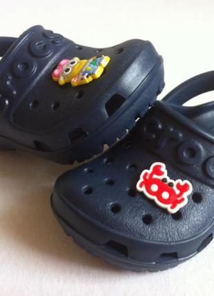 Как новые ! сабо crocs hilo clog ☀️😎 размер с5 ( 21 ) оригинал...