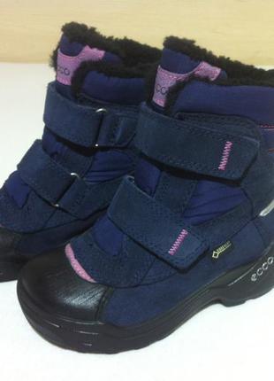Зимние ❄️сапоги ,ботинки ecco с мембраной gore-tex ❄️размер 26...