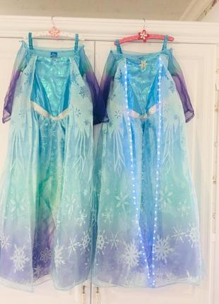 Карнавальное платье эльза с светящимся шлейфом