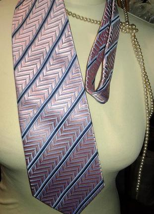 Шикарный розовый в полоску галстук- стильно ярко оригинально и...