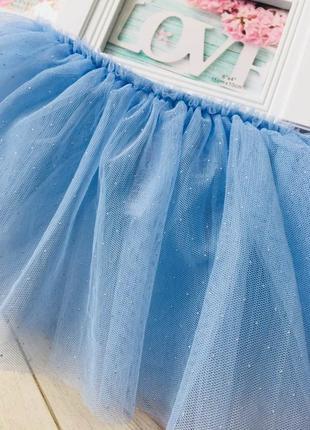 Пышная фатиновая юбка с блестками  карнавальный костюм