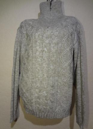Вязанный свитер унисекс под шею upgrade casuals размер м