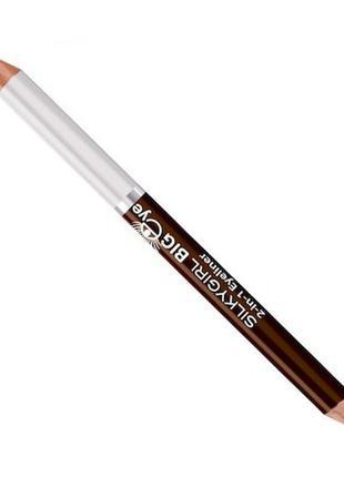Big eye 2-in-1 eyeliner 02 brown milk, крутой карандаш для глаз.