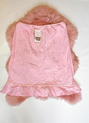 Новая с биркой летняя розовая натуральная юбка 100% лен батал ...