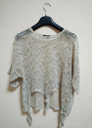 Neslay paris блуза топ сетка в стиле бохо