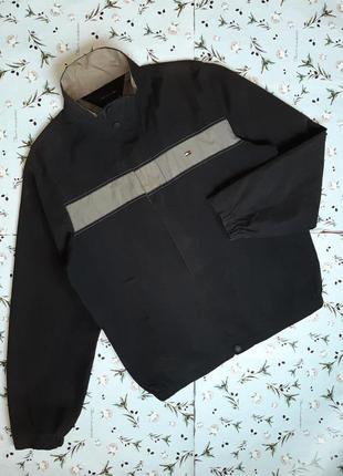 🎁1+1=3 винтажная темная куртка ветровка tommy hilfiger оригина...