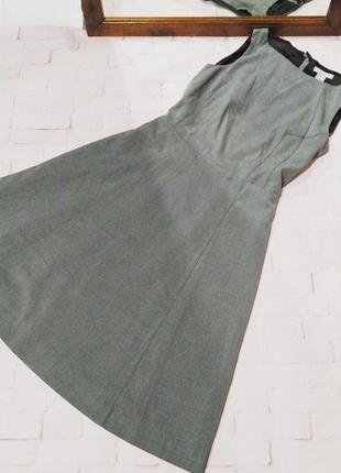 Платье трапеция а-силуэта из костюмной ткани h&m