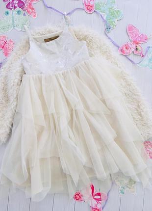 Шикарное пышное  платье тюль