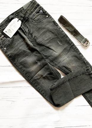 Черные стильные джинсы для мальчика 134-164