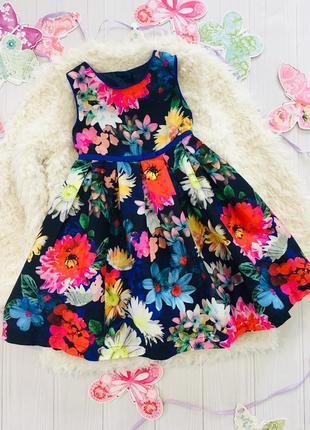 Нарядное платье в цветы