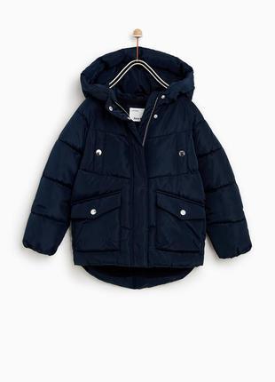 Нова курточка zara р. 140 маломірить