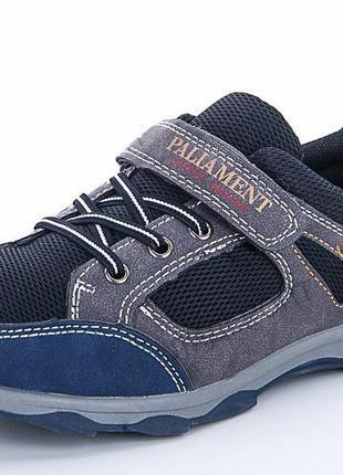 Качественные подростковые кроссовки на липучке