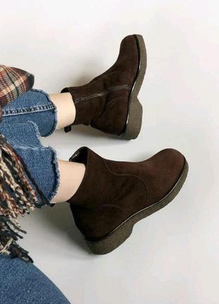 Нереальные винтажные ботиночки ботинки сапоги теплые
