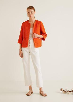 Твидовый оранжевый укороченый жакет в стиле шанель,пиджак,блей...