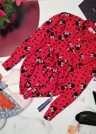 Модная рубашка disney primark, 100% вискоза, размер 12/40