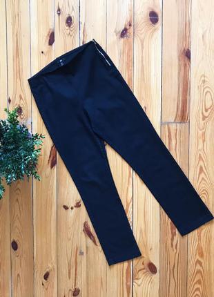Укорочённые чёрные брюки прямые бриджи h&m