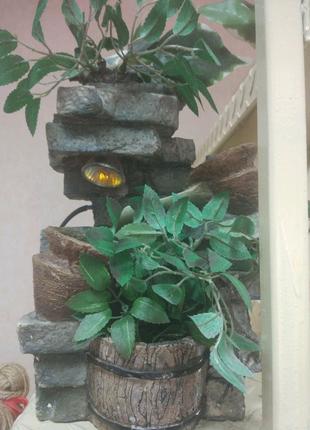Декоративный фонтан для дома и офиса по фен шую с подсветкой