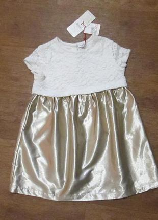 Платье нарядное на 2,5-3 года ovs fagottino