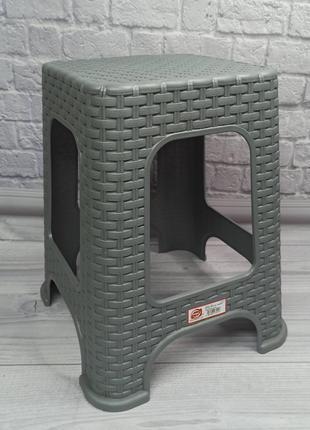 Табурет плетеный Elif Plastik 421 серый