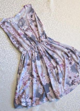 Платье трикотажное, тоненькое, на 9-10 лет