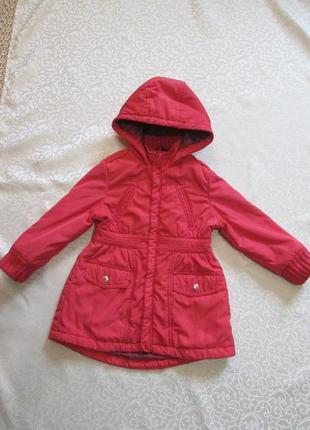 Курточка демисезонная, пальто демисезонное на 3-4-5 лет