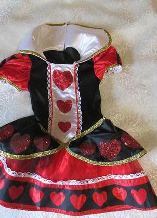 Платье карнавальное карта чирвовая, чирва на 6-7-8 лет