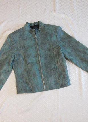 Куртка демисезонная кожаная. milan. натуральная кожа, змеиный ...