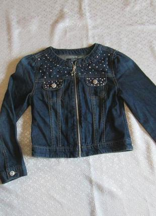 Джинсовка, джинсовая куртка, джинсовый пиджак на 9-10 лет