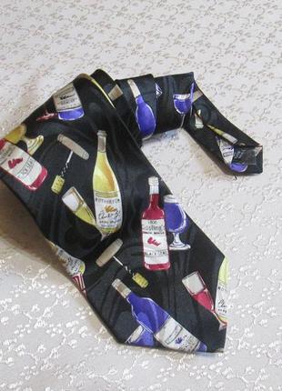 Галстук для бармена , с бутылками. the tie studio