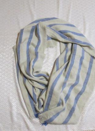 Палантин теплый, шарф широкий теплый, накидка