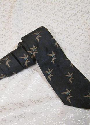 Винтажный английский галстук с уткаии