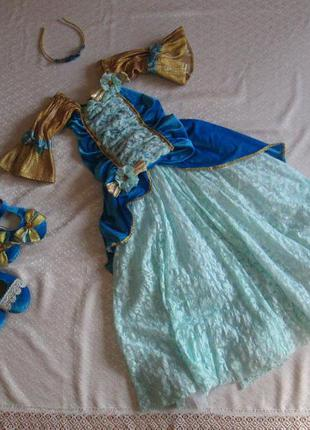 Платье карнавальное, костюм карнавальный принцесса