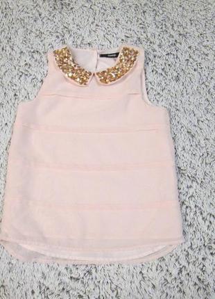 Блузка нарядная розовая на 6-7 лет