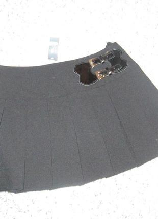 Юбка черная плиссированная, плиссе e-vie