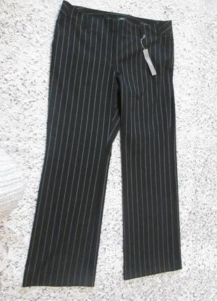 Брюки, штаны черные в белую полоску marisa trouser