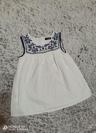 Платье , сарафан george на 4-5 лет с вышивкой