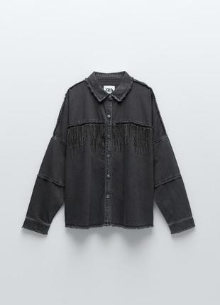 Джинсовая куртка/рубашка zara