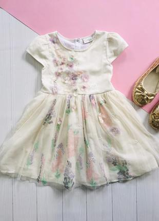 Нежное платье с объемными цветами