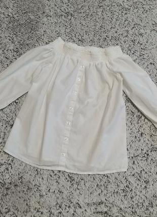 Блузка белая, рубашка белая, на 11-12 лет, river island