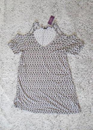Платье летнее, туника lascana, открытые плечи