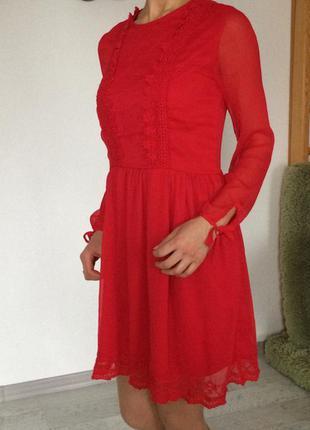 Шифоновое стильное платье h&m