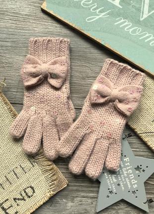 Перчатки с бантами 3-6л