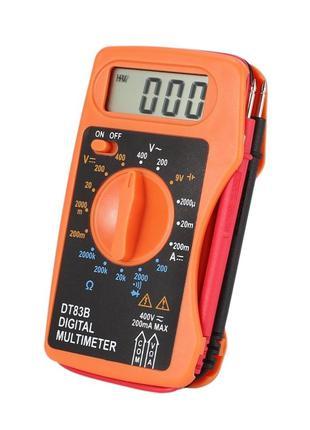 Мультиметр (тестер) DT83B карманный, со встроенными щупами